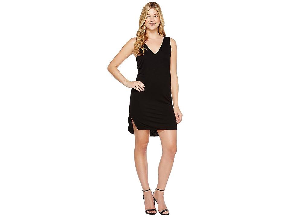 Lanston V-Neck Tank Dress (Black) Women