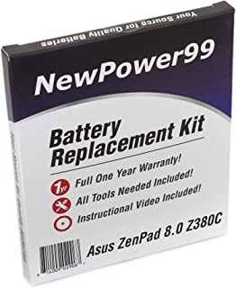 NewPower99 Battery Replacement Kit with Battery, Video Instructions and Tools for Asus ZenPad Z380C