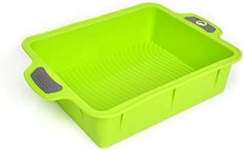 Bakeware Silicone Roast Pan, Gela Cake Molds for Baking, The Ideal Choice for Cakes and More - Roast Pan Green