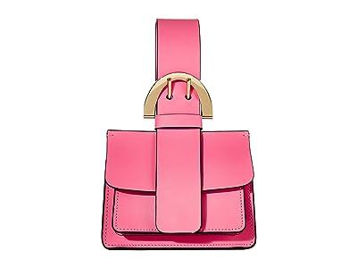 ZAC Zac Posen Buckle Wristlet (Dark Bubble Gum) Clutch Handbags