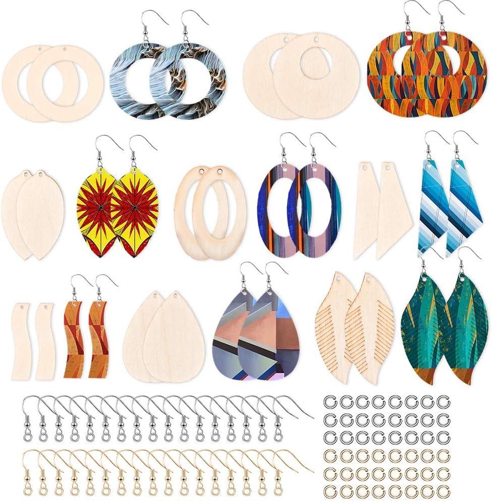 80pcs Max 56% OFF Unfinished Max 81% OFF Wooden Earring Pendants W Earrings Blank Dangle