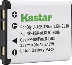 Kastar KLIC-7006 Compatible Lithium-ion Battery for Kodak M873 M883 and Kodak Easyshare M22 M23 M200 M215 M522 M530 M531 M532 M550 M552 M575 M577 M580 M583 M750 M5350 M5370 MD30 Cameras