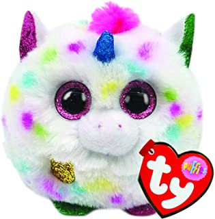 Ty Puffies-Harmonie Unicorn- Super Cute Plush Puff Balls. They Always Land on Their feet! Collect Them All!