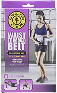 Gold's Gym Waist Trimmer Belt - Adjustable Size fits up to 50 inch Waist Trims.