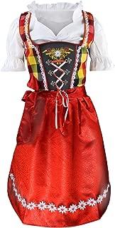 Authentic German Bavarian 3 Piece Children Dirndl Dress for Oktoberfest, Blouse, Apron, Sizes 2T-12