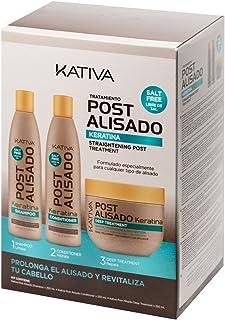 Kativa, Tratamiento Post Alisado, Champú,  Acondicionador y
