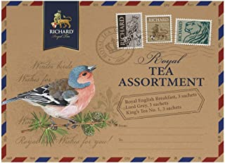 RICHARD Royal black tea assortment, 9 sachets 18g/0.63oz (Finch bird)
