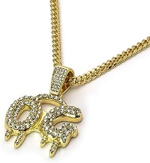 "14k Gold Plated Cz OG Hip Hop Pendant 3mm 30"" Cuban Chain Necklace"