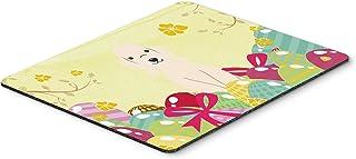 Caroline's Treasures Easter Eggs Bedlington Terrier Sandy Mouse Pad, Hot Pad or Trivet, Multicolor, 7.75x9.25 (BB6091MP)