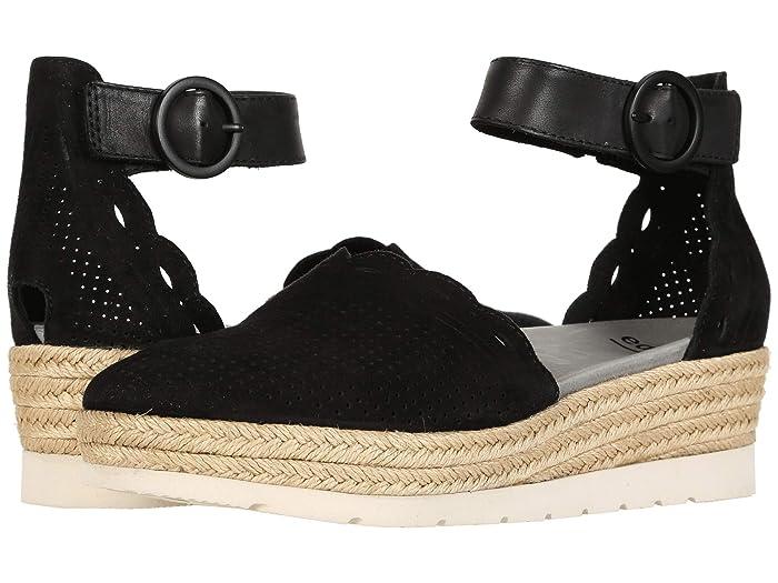 Earth  Yarrow (Black Soft Calf) Womens Flat Shoes