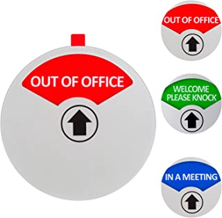 Kichwit Privacy Sign, in a Meeting Sign, Out of Office Sign, Welcome Please Knock Sign, Office Sign, Conference Sign for Offices, 5 Inch, Silver