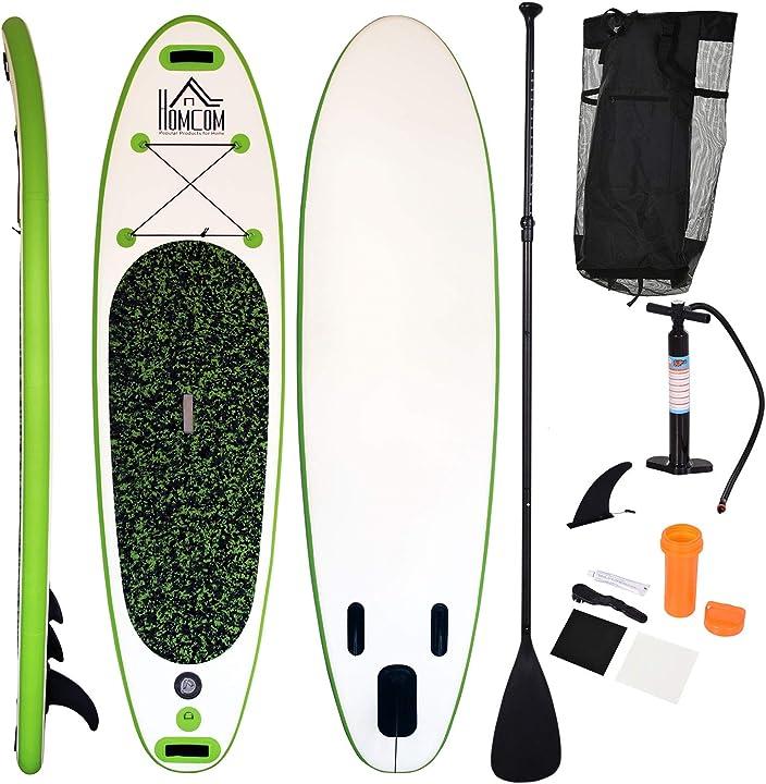 Tavola gonfiabile sup stand up paddle con pagaia regolabile tavola surf con accessori homcom ITA33-0070631