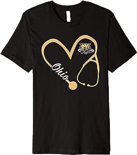 Ohio Bobcats Heart 3/4 T-Shirt - Apparel