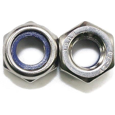 M12 x 1.75 Coarse Thread DIN 985 Class 10 Nyloc Nylon Insert Locknut Standard Medium Carbon Steel Zinc Plated Pk 100