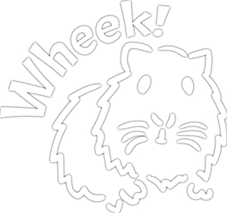 4 All Times Wheek Guinea Pig Automotive Car Decal for Cars, Trucks, Laptops (8.0 W x 7.5 H)
