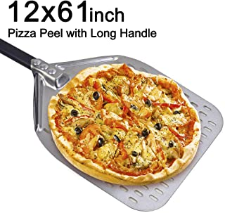 SHANGPEIXUAN 9 Turning Pizza Peel,Stainless Steel Pizza Paddle with 47 Inch Long Handle