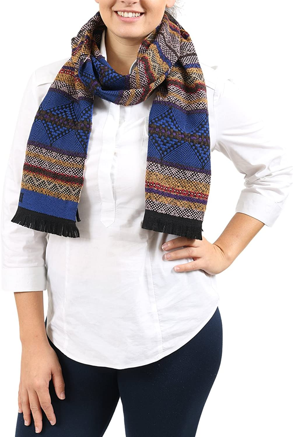 Missoni bluee Tan Abstract Scarf for Womens