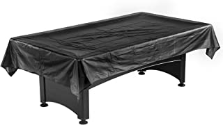 Hathaway Pool Table Billiard Dust Cover, Black, 7-8-Feet