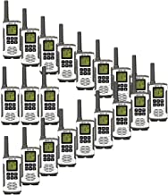 Retevis RT45 2 Way Radio Rechargeable Two Way Radios 10Call Tone Roger Beep Flashlight 121 Private Codes VOX FRS Walkie Talkie for Adults(20 Pack)