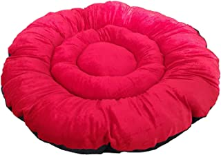 Mellifluous Medium Size Dog and Cat Pet Bed Cushion, Red