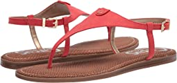 Coral Punch Microsuede