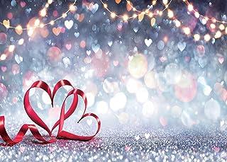 SJOLOON Glitzernde Valentinstag Hintergründe für Fotografie, Herz Hintergrund, Valentinstag, Party, Dekoration, Studio, Fotografie, 11796