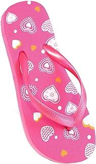 Sandrocks Girls Flip Flops Heart Pattern Pink UK 9-10