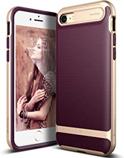 iPhone 7 Case, Caseology [Wavelength Series] Textured Pattern Grip Cover [Burgundy] [Shock Proof] for Apple iPhone 7 (2016) – Burgundy