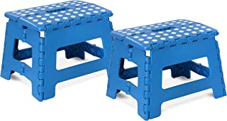 Utopia Home Foldable Step Stool for Kids - 11 Inches Wide and 8 Inches Tall - Holds Up to 300 lbs - Lightweight Plastic De...