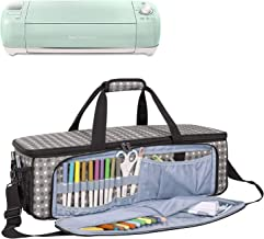 Yarwo Carrying Bag for Cricut Explore Air (Air 2), Cricut Maker Silhouette Cameo 3, Tote Bag Heavy Duty Nylon Travel Bag Compatible with Cricut Accessories Supplies, Bag Only, Grey Dots