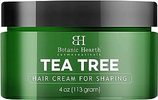Botanic Hearth Tea Tree Shaping Hair Cream - Styling & Defining Cream - Matte Finish, Long Lasting Hold - Contains Fiber a...