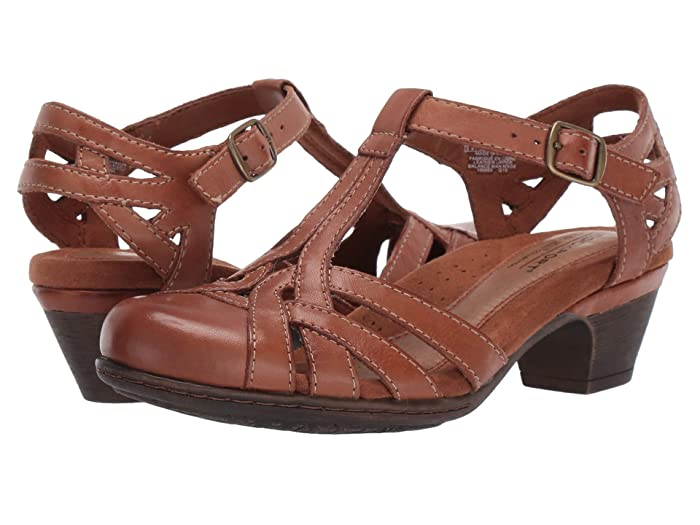 Vintage Sandals | Wedges, Espadrilles – 30s, 40s, 50s, 60s, 70s Cobb Hill Cobb Hill Aubrey Tan Womens 1-2 inch heel Shoes $99.95 AT vintagedancer.com