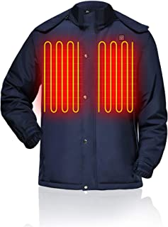Heated Jacket Battery Rechargeable for Men Cold Weather Electric Jacket for Skiing Hiking Snowboating