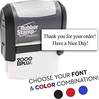 2 Line Custom Self Inking Rubber Stamp - Choose Your Font & Color!