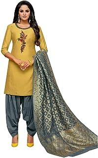 رداء ساري مطرز من الحرير من ladyline Partywear Maslin للسيدات جاهز للارتداء فستان باكستاني الهندي