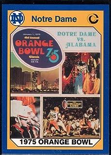 Football NFL 1990 Collegiate Collection Notre Dame #60 1975 Orange Bowl