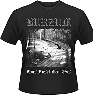 Burzum T Shirt Hvis Lyset Tar OSS Band Logo Official Mens Black