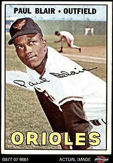 1967 Topps # 319 Paul Blair Baltimore Orioles (Baseball Card) Dean`s Cards 5 - EX Orioles