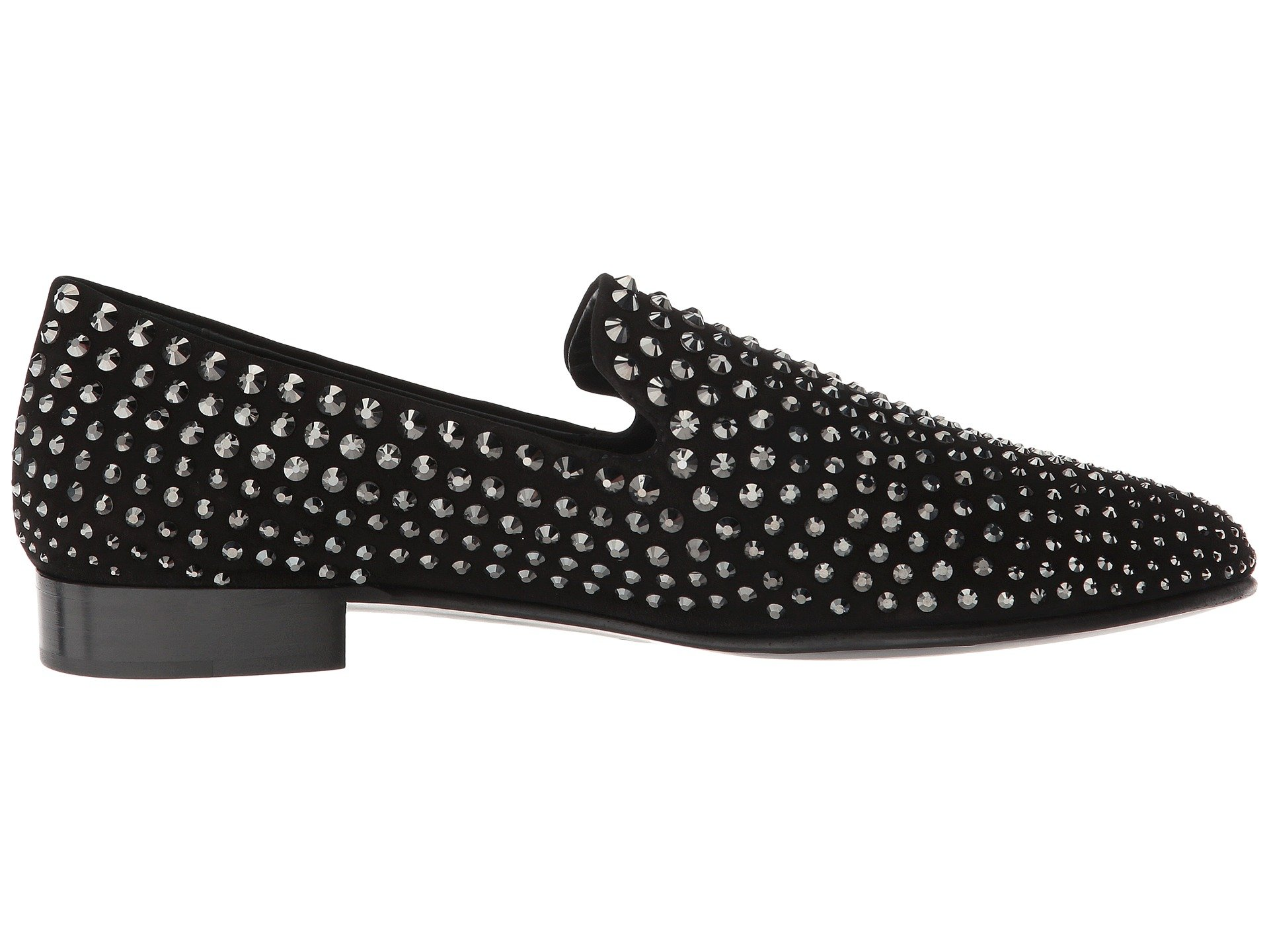 Kevin Studded pewter Giuseppe Black Loafer Zanotti ax66qwpC