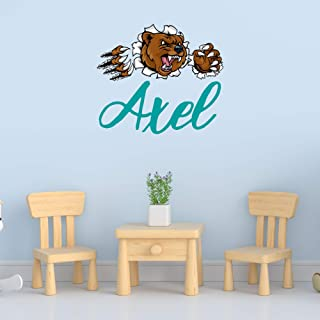 Personalized Boy's Name Wall Decal, Choose Your Own Name And Letter Style, Multiple Sizes, Personalized Animal Name Wall Decal, Animal Decor, Boy's Nursery Wall Decor, Animal Wall Decal, Boy's Name