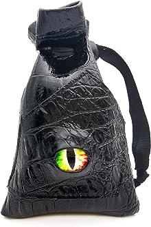 Storage Bag HAOMEJA DND Stuff Role Playing Dice Bag Drawstring Leather DND dice Bag