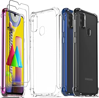 Clear Tempered Glass Case for Samsung Galaxy M31- Pack of 2