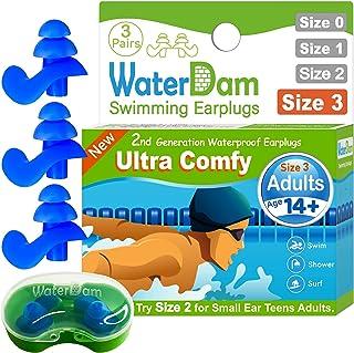 WaterDam Swimming Ear Plugs Great Waterproof Ultra Comfy...