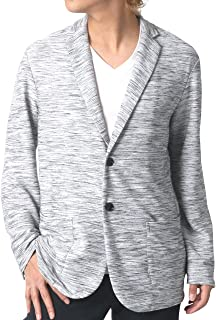 [ノータべネ] テーラードジャケット レーヨン混 杢 リップル素材 メンズ