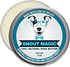 Snout Magic: 100% Organic and Natural Dog Nose Butter (2oz) - Proven to Cure Your Dog's Dry, Chapped, Cracked, and Crusty Nose