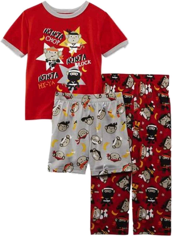 Joe Boxer Infant Toddler Boys Outlet SALE 3 Piece Ninja Gifts Monkey Slee Pajama