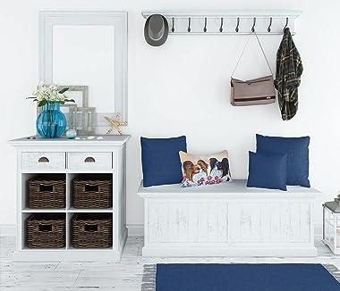 Caroline's Treasures 7272PW1216 Papillon Decorative Canvas Fabric Pillow, 12H x16W, Multicolor