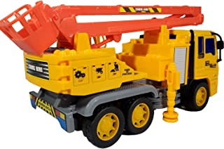 ANJ Kids 2019 Holiday Construction Toys Series – Dump Truck, Concrete Mixer Toy Truck, Crane and Lift Crane Toy Trucks – Friction Powered Car Toys (Lift Crane)