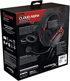 Hyperx Cloud Alpha Pro Gaming Headset For Pc, Ps4 & Xbox One, Nintendo Switch (Hx-Hsca-Rd/Ee),Black