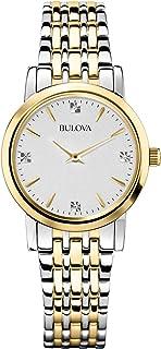 Bulova Women's 98P115 Diamond Accented Silver-Tone...